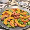 Salade tiède de courge et de ballotine grillée