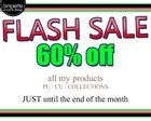 FLASH SALE !! 60% !!
