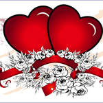 Immagini di San Valentino da scaricare per biglietti con cuori
