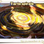 Tarte spirale courgettes / aubergines - un tour entarté
