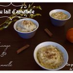 Riz au lait d'amande (Vegan) orange & cannelle