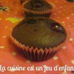 Muffins au chocolat et aux cerises confites