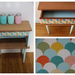 TABLE DE CHEVET VINTAGE RELOOKEE