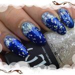Nail art Noël sous la neige