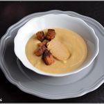 Velouté de rutabaga au foie gras et au pain d'épices