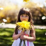 Very Beautiful and Cute Kids - Flowers