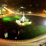 Liberty Chowk Lahore in Night