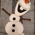 Gâteau OLAF la reine des neiges