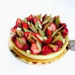 Tarte Rhubarbe et fraises de Claire Heitzler pour la fête de mères