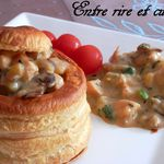 Vol-au-vents au Poulet, courgettes,......