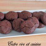 Biscuits crousti-moelleux au chocolat (sans oeuf)