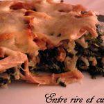 Gratin riz/épinards au Poulet rôti et farce de Noël {anti-gaspillage}