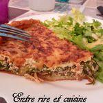 Quiche à la salade cuite et au poulet rôti {pour ne pas jeter de la salade flétrie...}