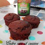 Muffins rustiques au chocolat et crème de pruneaux