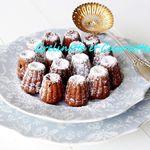 Mini Cannelés au Chocolat, au Lait d'Amande et aux Raisins