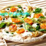 Tarte Fine aux Fleurs de Courgettes et Tomates