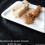 Brochettes de saumon teriyaki au lait de coco