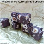Fudges amandes, noisettes & orange
