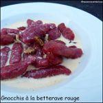 Gnocchis à la betterave rouge, gorgonzola & noix
