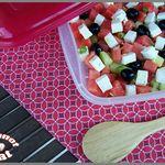 Salade pastèque, feta et concombre