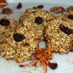 Cookies express vegan aux noix et cramberries.