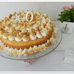 "Lemon Chiffon Cake (gâteau mousseline au citron) ... Happy Birthday ""ma"" Sotis !"