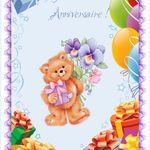 carte Joyeux anniversaire