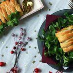 Tresse feuilletée de Noël - potimarron, marrons et noix