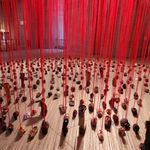 Collection de chaussures par Chiharu Shiota