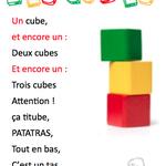 Comptine Les cubes chez Vihyko