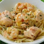 ONE POT PASTA CREVETTES SAUMON (cookéo)