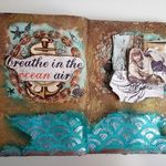 Step by Step Art Journal Page Video Tutorial - By the Sea