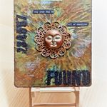 "Mixed Media Tag ""Sun"""