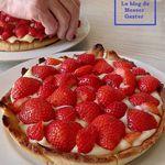 Tarte aux fraises à la cassonade