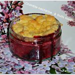 ♥ Crumble nectarine et fruits rouges ♥