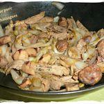Wok de porc châtaignes et endives