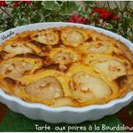 Tarte aux poires à la Bourdaloue