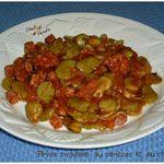 Fèves mijotées au jambon et au chorizo