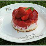Bavarois fraises citron sur son croquant de spéculoos