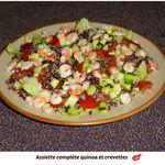 Salade de quinoa rouge aux crevettes ( pour 1 pers)
