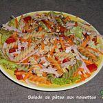 Salade de pâtes aux noisettes ( pour 1 pers)