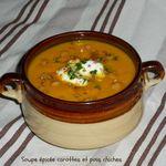 Soupe épicée carottes et pois chiches