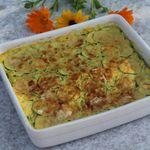 Gâteau Invisible Courgettes, Safran et Parmesan