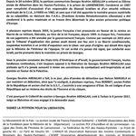 Libération de Georges Ibrahim Abdallah : manif le samedi 21 octobre à Lannemezan