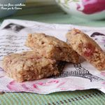 Cookies carrés aux fleurs