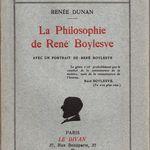 "Renée Dunan ""La Philosophie de René Boylesve"" (Le Divan - 1933)"