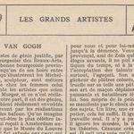 """Renée Dunan """"Cézanne et Van Gogh"""" (1920)"""