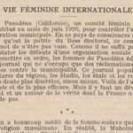 "Lucy Hall ""Vie féminine internationale"" (1920)"