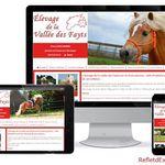 Refonte du site internet de l'Elevage de la Vallée des Fayts