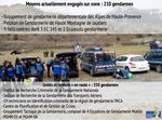 Fort engagement de la gendarmerie après le crash de l'A320 dans les Alpes